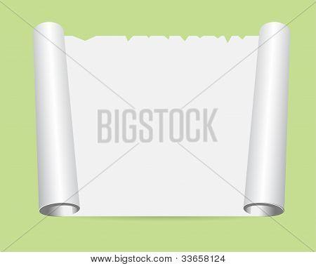 Frieden von gewalztem Papier auf den Boden-Vektor-illustration