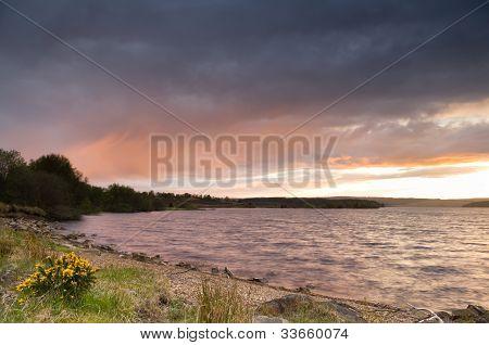 Sundown At Kielder Reservoir