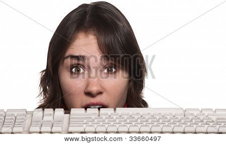Woman Behind Keyboard