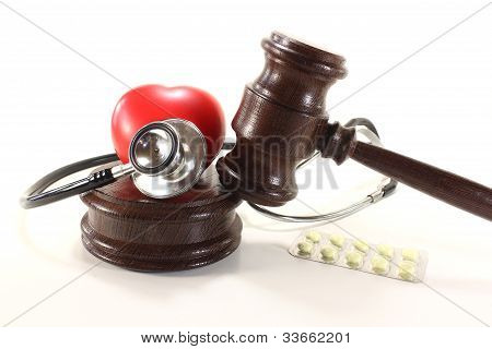 Medical Law With Stethoscope