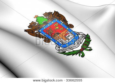 Bandera de Michoacán, México.