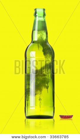 Opened Beer Bottle