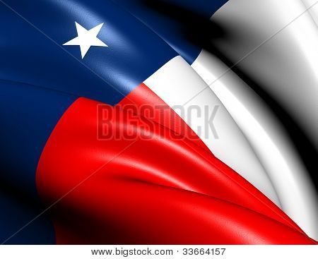 Flag Of Texas, Usa.