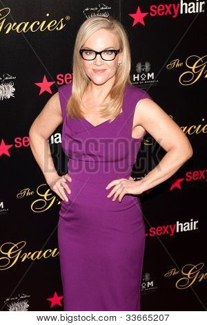 BEVERLY HILLS, CA - MAY 21: Rachael Harris arives at the Gracie Awards Gala on May 21, 2012 at the Beverly Hilton Hotel in Beverly Hills, California.