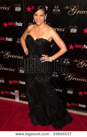 BEVERLY HILLS, CA - MAY 21: Constance Marie arives at the Gracie Awards Gala on May 21, 2012 at the Beverly Hilton Hotel in Beverly Hills, California.