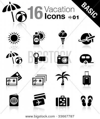Basic - los iconos de vacaciones