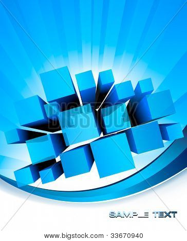 Abstract blue background. Vector.