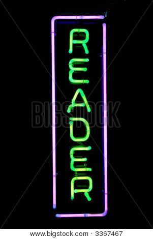 Reader Neon Sign