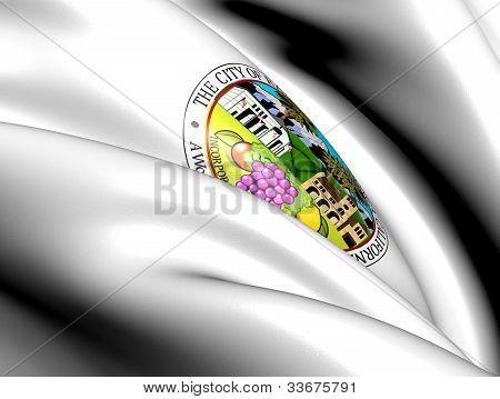 Rancho Cucamonga Coat Of Arms, Usa.