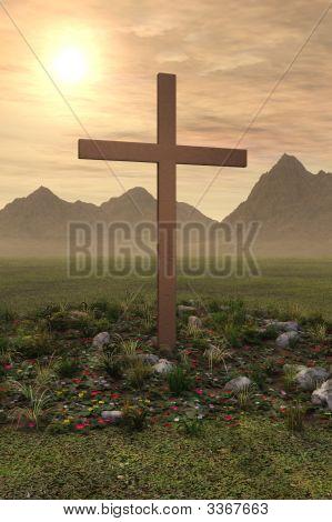 Cross Easter Sunrise Spring Morning