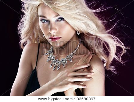 Beautiful woman with jewellery