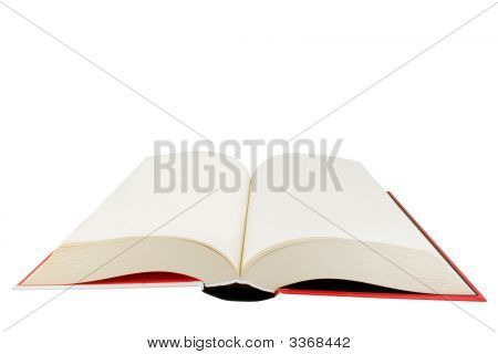 Open Hardback Book