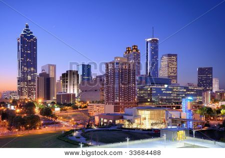 Morning view of downtown Atlanta, Georgia, USA.