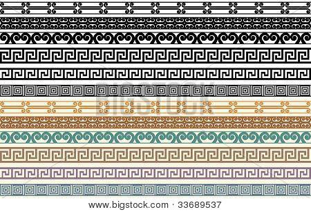Greek Border Pattern Design Elements