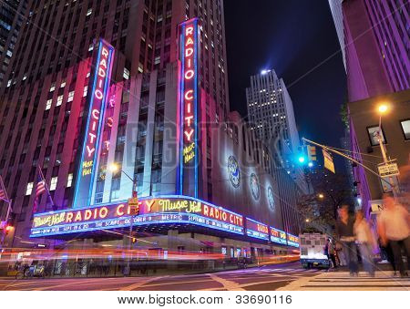 New York City 12. Mai: Radio City Music Hall, Rockefeller Center dürfen 12, 2012 in New York City, ny. Co