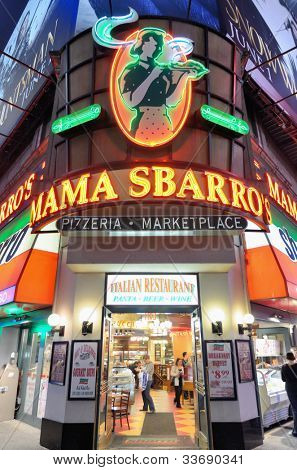 NEW YORK CITY - MAY 12: Mama Sbarro's Pizzeria May 12, 2012 in New York, NY. Sbarro has over 1,000 locations in 44 countries but filed for bankruptcy in April of 2011.