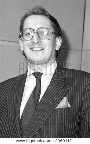 LONDON - DECEMBER 12: Christopher Frazer, Conservative party Parliamentary Candidate for Peckham, attends a photo call at Conservative Central Office on December 12, 1990 in London.