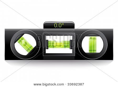 Green spirit level, illustration