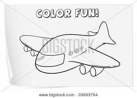 Ilustración de una hoja de cálculo de colorante (plano)
