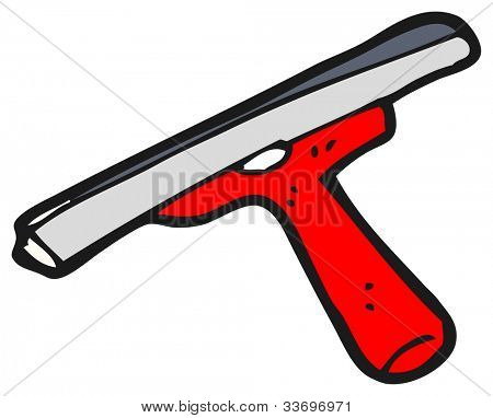 cartoon squeegee brush,
