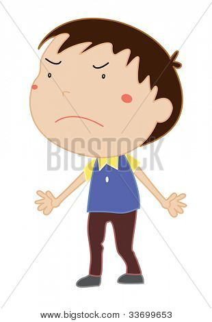 Illustration of an angry boy - EPS VECTOR format also available in my portfolio.