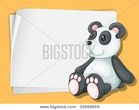 White paper template with a panda cartoon - EPS VECTOR format also available in my portfolio.