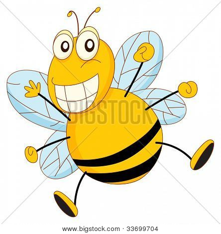 Simple cartoon of a bee - EPS VECTOR format also available in my portfolio.
