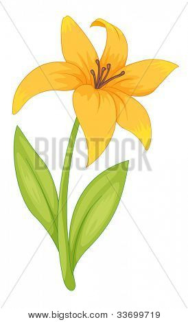 Illustration of a simple flower - EPS VECTOR format also available in my portfolio.