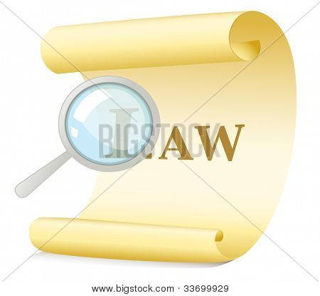 Illustration of a law search concept - EPS VECTOR format also available in my portfolio.