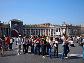 Tourists outside Vatican