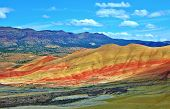 Pretty Painted Panorama - A View Of The Painted Hills - John Day Fossil Beds National Monument - Sut poster