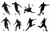 foto of olympiad  - Abstract vector illustration of soccer players silhouettes - JPG