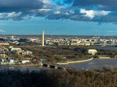 Top View Scene Of Washington Dc Down Town Which Can See United States Capitol, Washington Monument,  poster