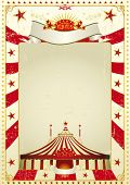 Used poster circus. A new circus vintage background with a big top for a poster. Writing your messag