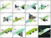 Minimal Brochure Templates With Colorful Triangles, Triangular Shapes. Covers Design Templates For S poster