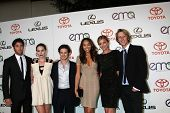 LOS ANGELES - OCT 15:  Joshua Bowman, Christa B. Allen, Connor Paolo, Ashley Madekwe, Emily VanCamp,