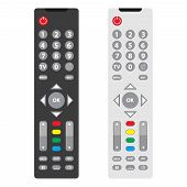 Tv Remote, Tv Remote Icon. Two Tv Remote Black And White. poster
