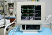 pic of bp  - cardiac monitor displaying patient - JPG