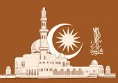 image of jawi  - Vector Hand Drawn Mosque - JPG