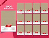 Calendar 2020 Templates In Vecto Design Illustration 4 poster