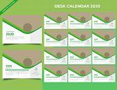 Calendar 2020 Templates In Vecto Design Illustration 8 poster