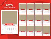 Calendar 2020 Templates In Vecto Design Illustration 11 poster