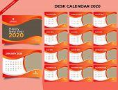 Calendar 2020 Templates In Vecto Design Illustration 7 poster