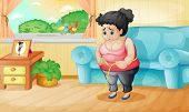 picture of blubber  - Illustration of an overweight woman - JPG