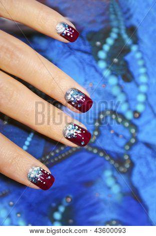 Festive nail design .