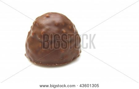 Chocolate candy isolated on a white background