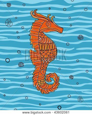 Sea horse.