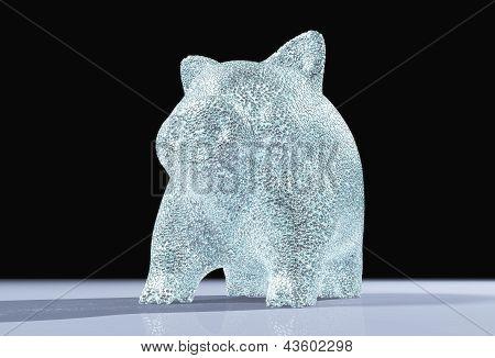 An Illuminated Pig Piggy Full Of Diamonds