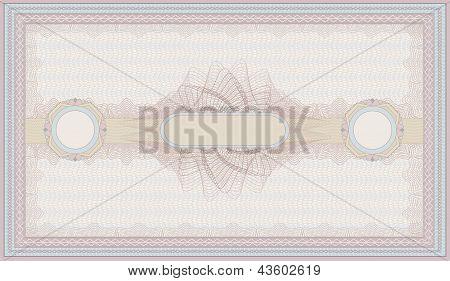 raster voucher pink blue guilloche certificate