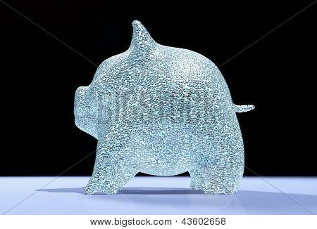 Pig Piggy Is Full Of Diamonds